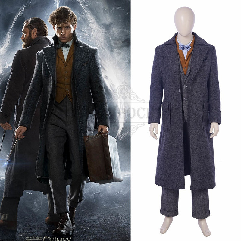 Fantastic Beasts: The Crimes of Grindelwald Newt Scamander Cosplay Costume