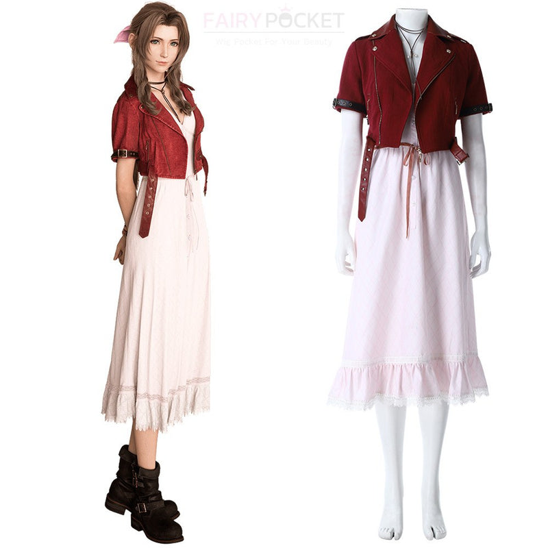 Final Fantasy 7 Remake Aerith Gainsborough Cosplay Costume