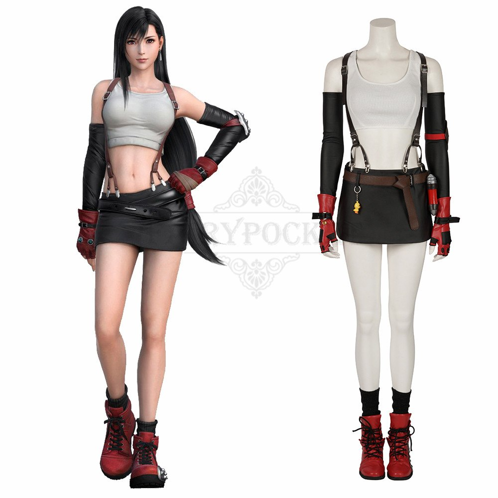 Final Fantasy Vii Tifa Lockhart Cosplay Costume Fairypocket Wigs 4k hds (sfw and nsfw). final fantasy vii tifa lockhart cosplay
