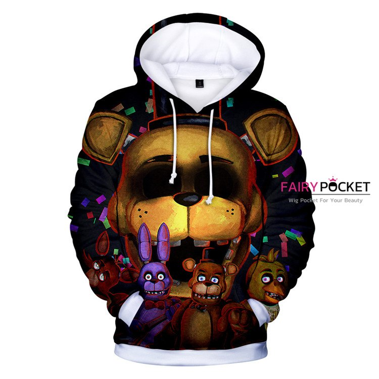Five Nights at Freddy's Black Hoodie