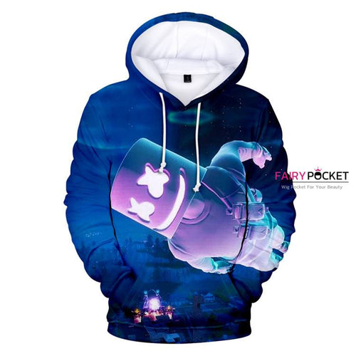 Fortnite Battle Royale Marshmello Dark Blue Hoodie