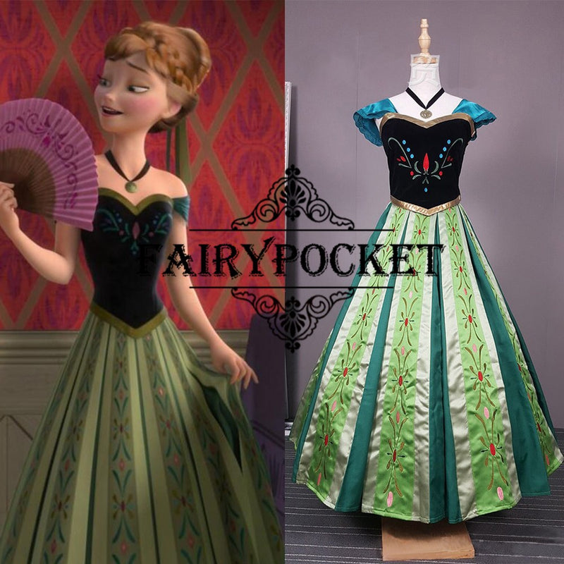 Frozen Anna Anime Cosplay Costume