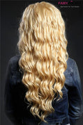 Gorgeous Gold Curly Synthetic Lace Front Wig