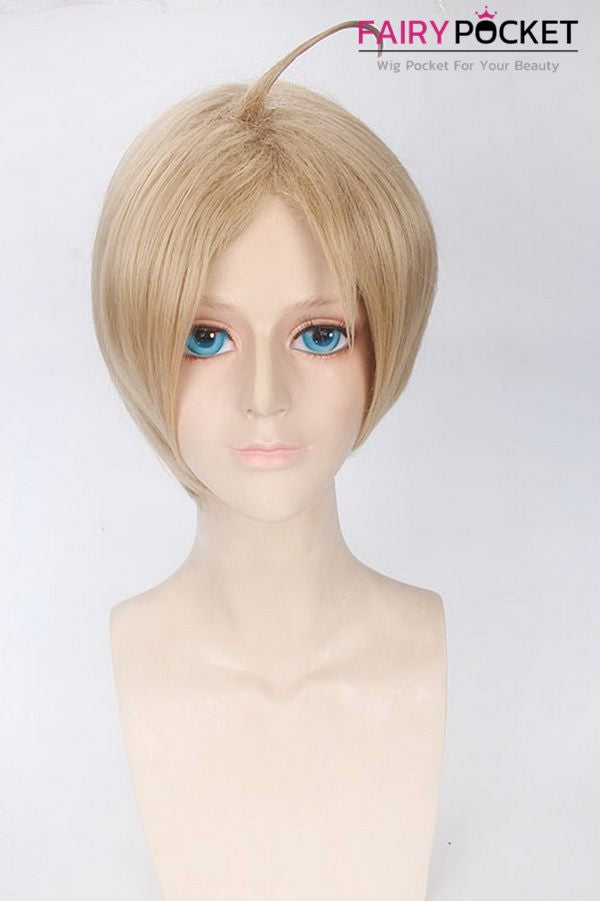 Hetalia Axis Powers Alfred F. Jones Anime Cosplay Wig