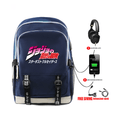 JoJo's Bizarre Adventure Backpack with USB Charging Port (6 Colors) - P