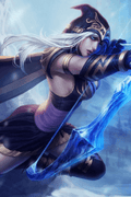 League of Legends Ashe Anime Cosplay Wig