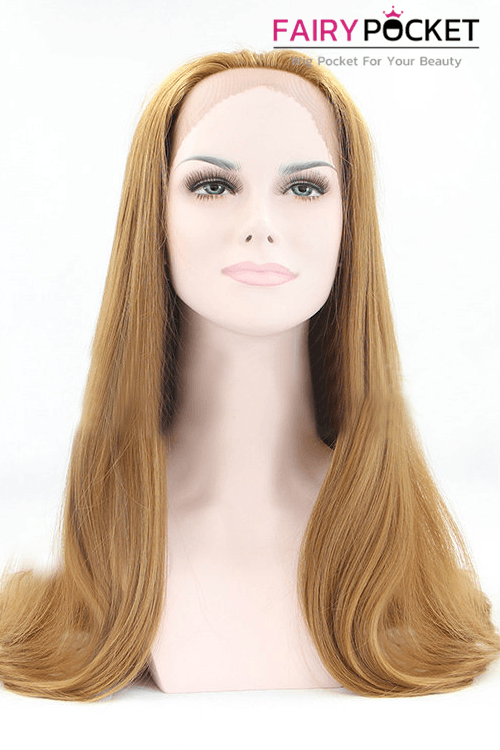 Light Brown Long Wavy Lace Front Wig