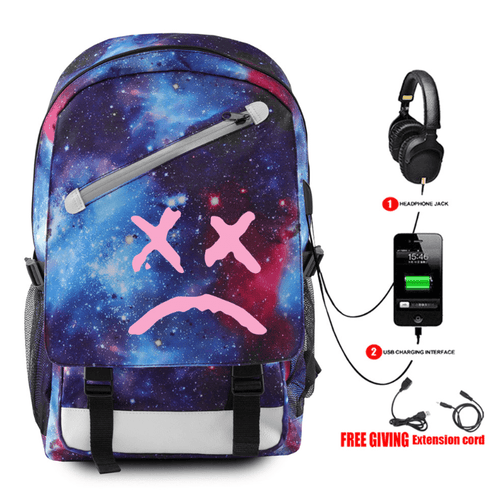 Lil Peep Backpack with USB Charging Port - C