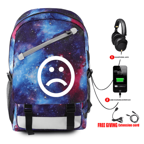 Lil Peep Backpack with USB Charging Port - K