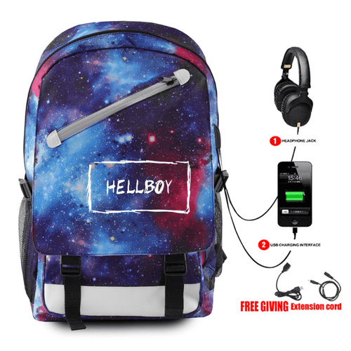 Lil Peep Backpack with USB Charging Port - L