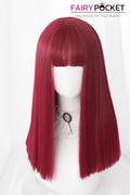 Lolita Long Straight Berry Red Basic Cap Wig
