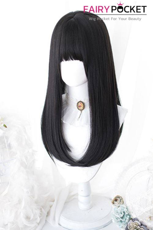 Lolita Long Straight Black Basic Cap Wig