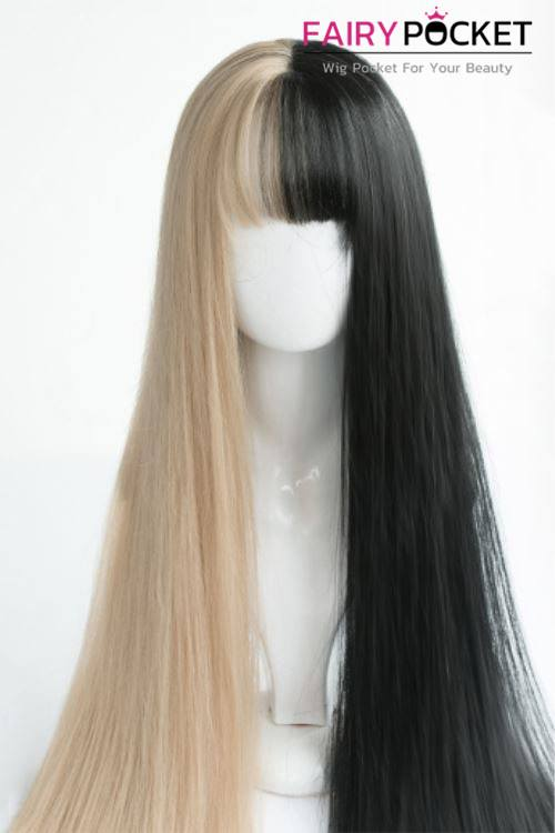 Lolita Long Straight Black and Fawn Basic Cap Wig
