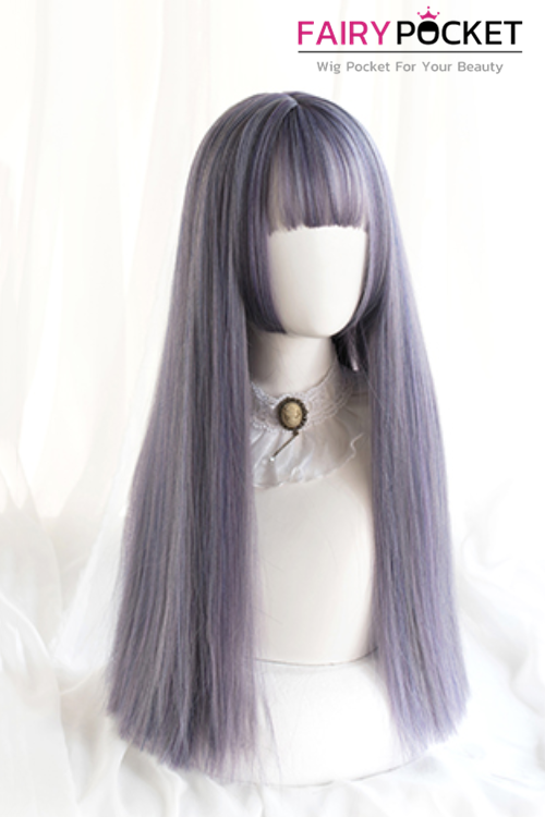 Lolita Long Straight Purple Basic Cap Wig