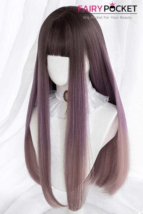Lolita Long Straight Russet to Purple Basic Cap Wig