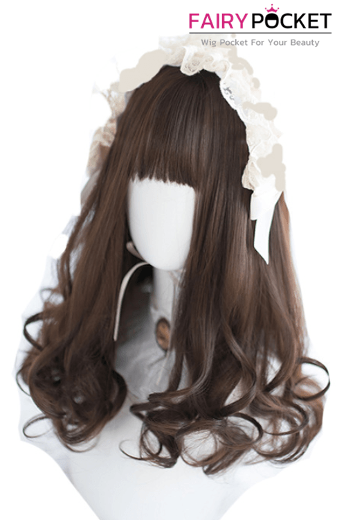Lolita Long Wavy Black Plum Basic Cap Wig - B