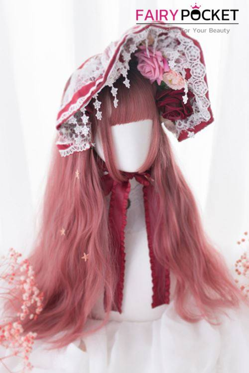 Lolita Long Wavy Black to Melon Ombre Basic Cap Wig