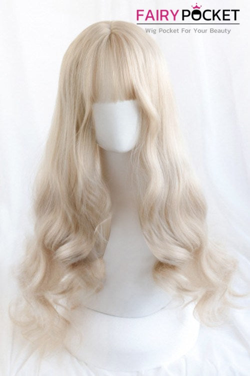 Lolita Long Wavy Blonde Basic Cap Wig