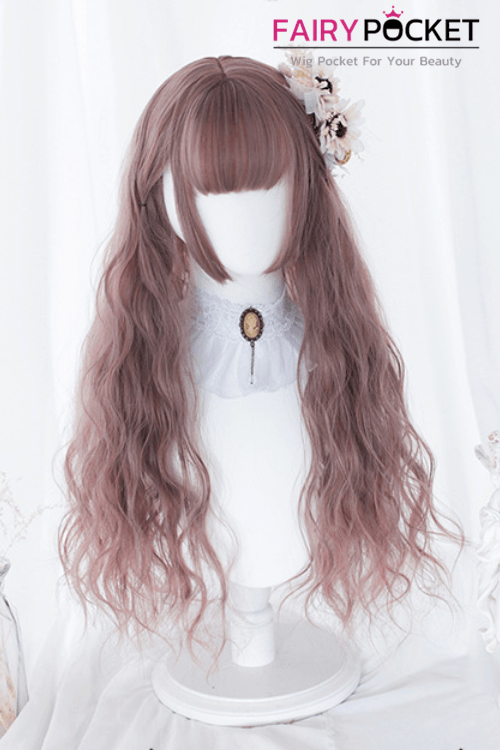 Lolita Long Wavy Brown Basic Cap Wig - B