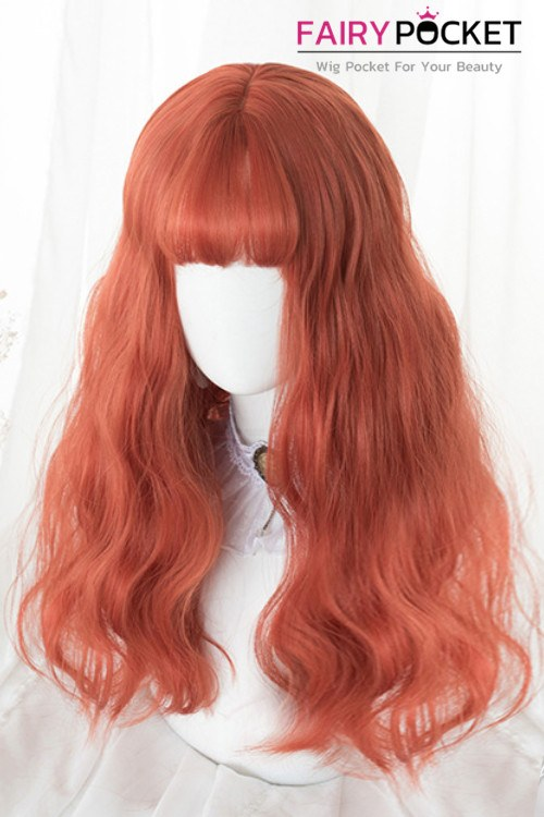 Lolita Long Wavy Burnt Orange Basic Cap Wig - D