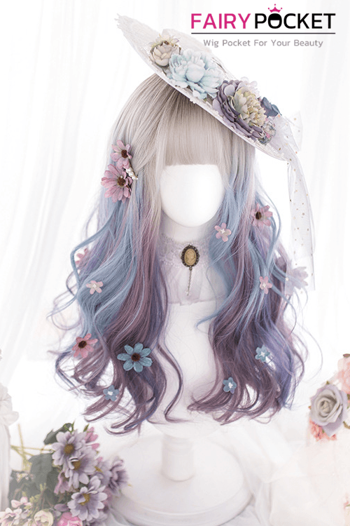 Lolita Long Wavy Fawn to Purple Ombre Basic Cap Wig