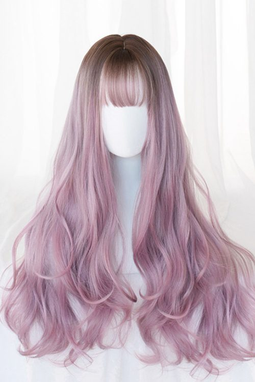 Lolita Long Wavy Light Cinnamon to Petal Pink Basic Cap Wig