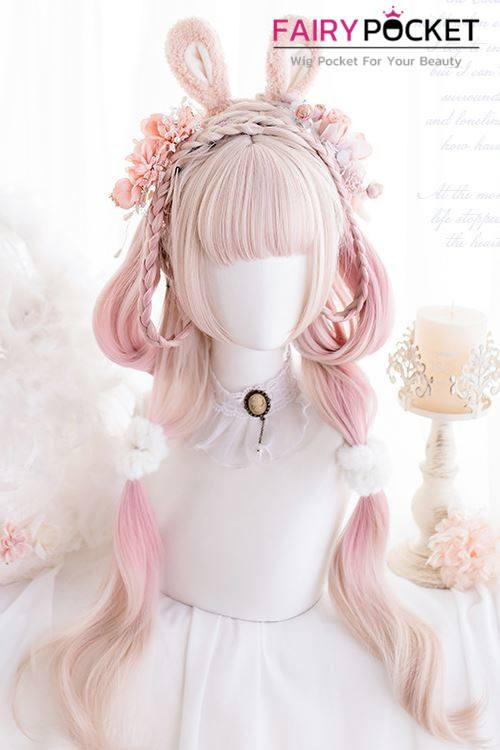 Lolita Long Wavy Sand to Electric Pink Ombre Basic Cap Wig