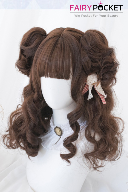 Lolita Medium Wavy Black Plum Basic Cap Wig