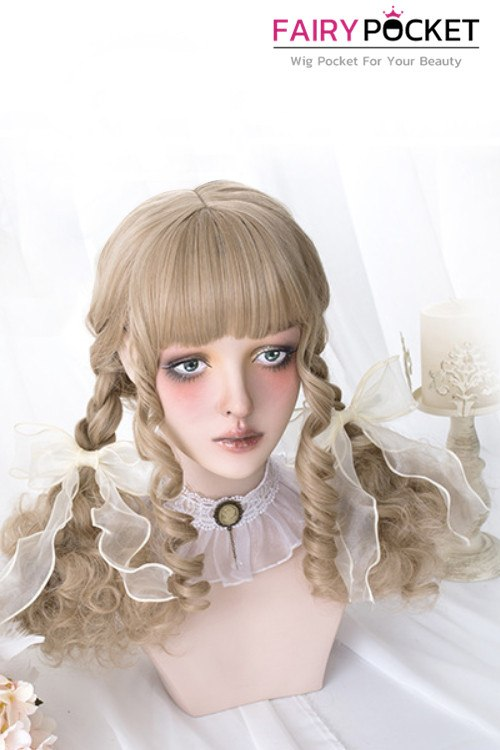 Lolita Medium Wavy Brown Basic Cap Wig - B