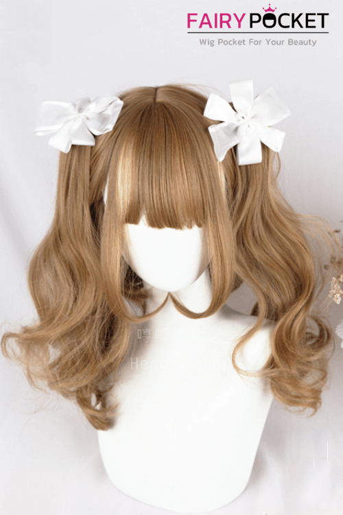 Lolita Medium Wavy Brown Basic Cap Wig