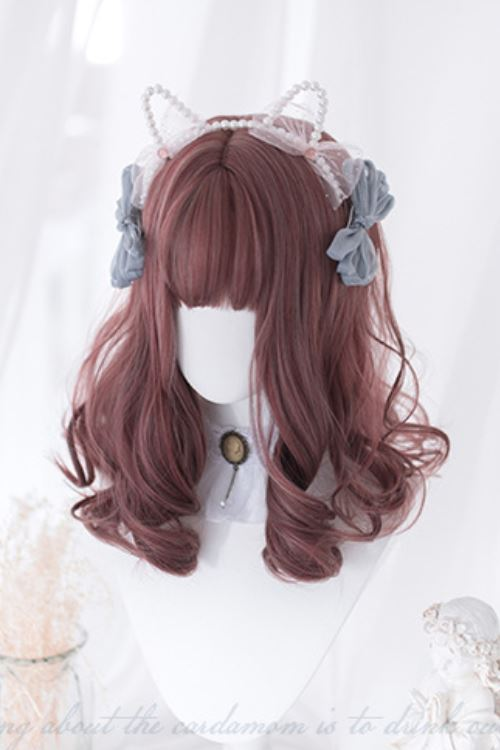 Lolita Medium Wavy Napa Red Basic Cap Wig