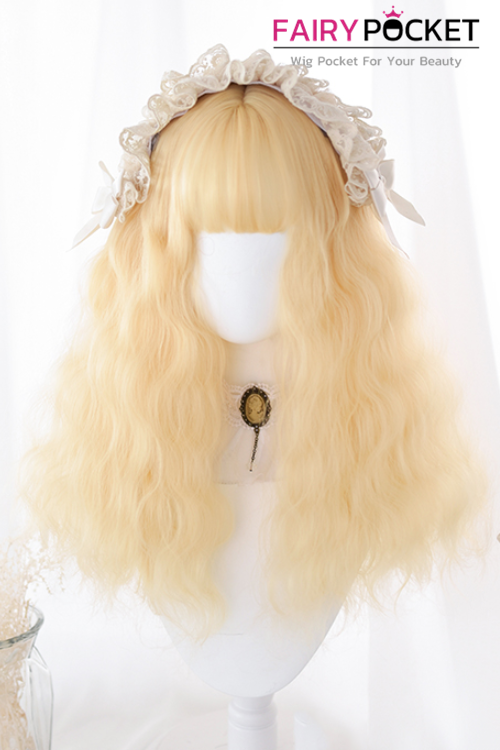 Lolita Medium Wavy Sand Basic Cap Wig - C