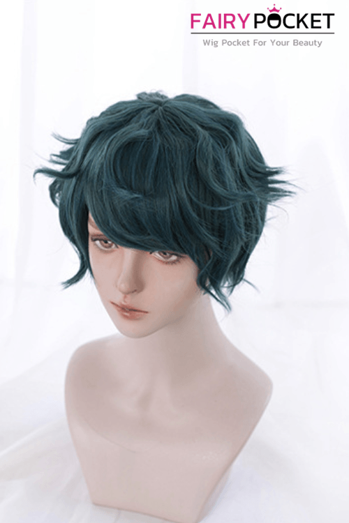 Lolita Short Wavy Blue Basic Cap Wig - B