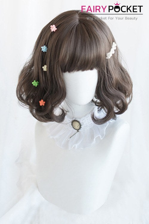 Lolita Short Wavy Brown Basic Cap Wig