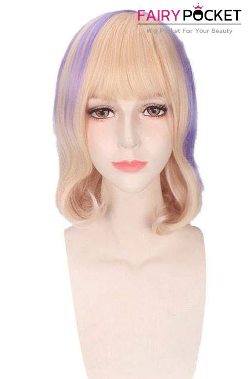 Lolita Short Wavy Buttermilk and Lavender Basic Cap Wig