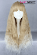 Lolita Blond and White Long Wavy Basic Cap Wig