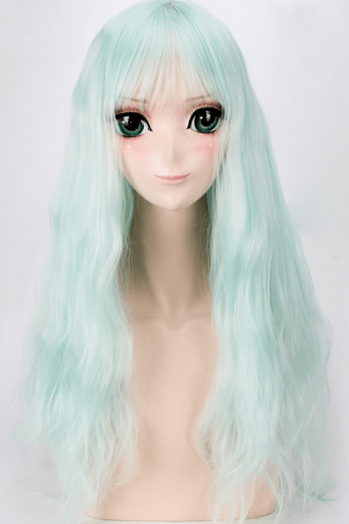 Lolita Blue Short Mint Julep Wavy Basic Cap Wig