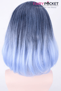 Lolita Blue Short Wavy Basic Cap Wig