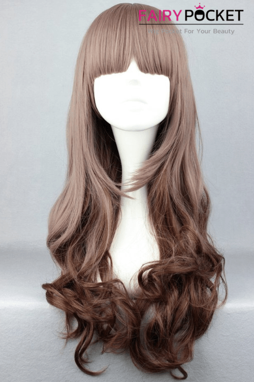 Lolita Brown Long Wavy Basic Cap Wig