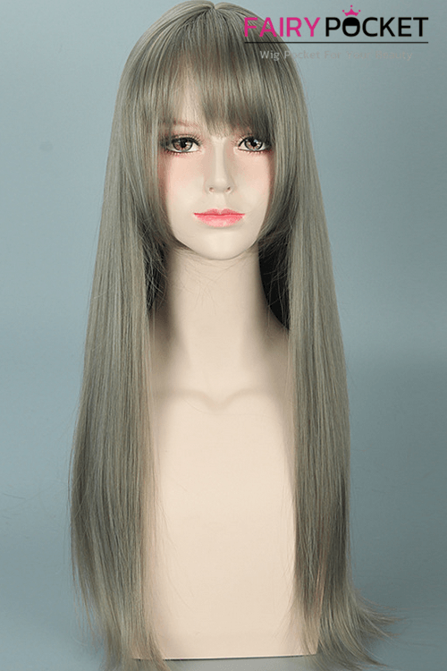 Lolita Celery Green Long Straight Basic Cap Wig
