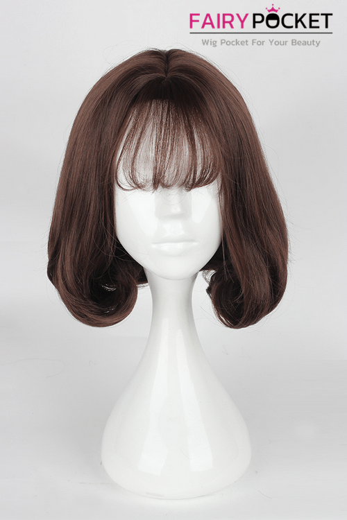 Lolita Dark Brown Short Wavy Basic Cap Wig