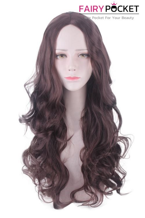 Lolita Long Wavy Black Plum Basic Cap Wig