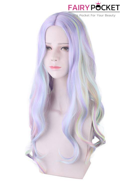 Lolita Long Wavy Rainbow Basic Cap Wig