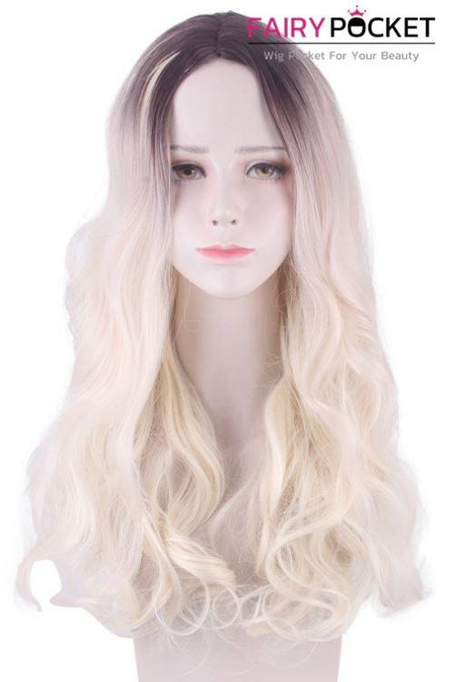 Lolita Long Wavy Russet to Sand Ombre Basic Cap Wig