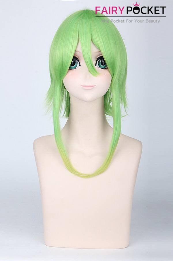 Long Wavy Apple Green to Blonde Basic Cap Wig