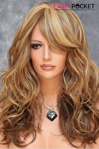 Long Wavy Brown Balayage Blonde Basic Cap Wig