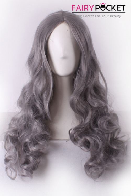 Long Wavy Grey Basic Cap Wig