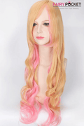 Macross F Sheryl Nome Anime Cosplay Wig - Blonde and Pink