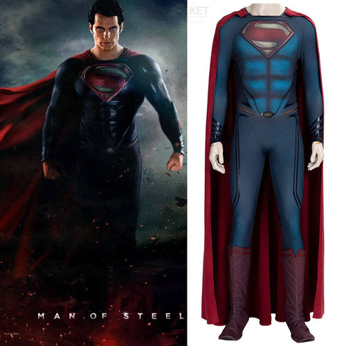 Man of Steel Superman Cosplay Costume