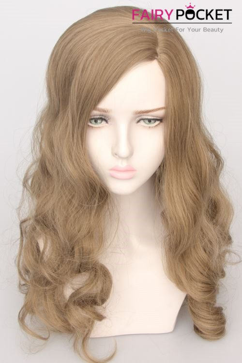 Medium Wavy Antique White Basic Cap Wig